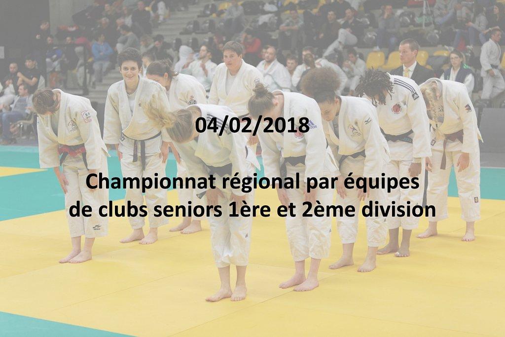 04/02/2018 : Championnat régional par équipes de clubs seniors